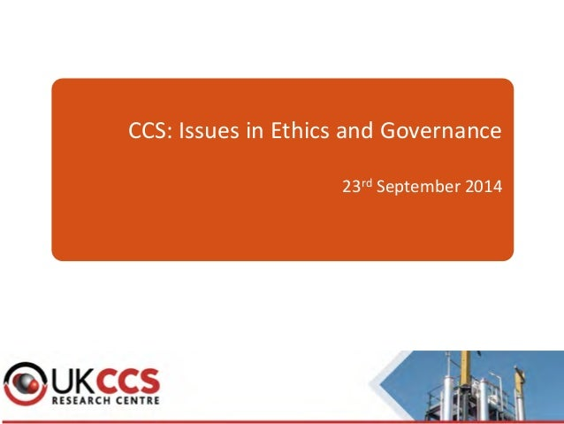 Ethical Corporate Governance : Why does it matter?