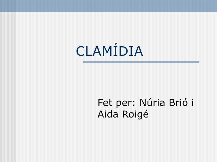 CLAMÍDIA Fet per: Núria Brió i Aida Roigé
