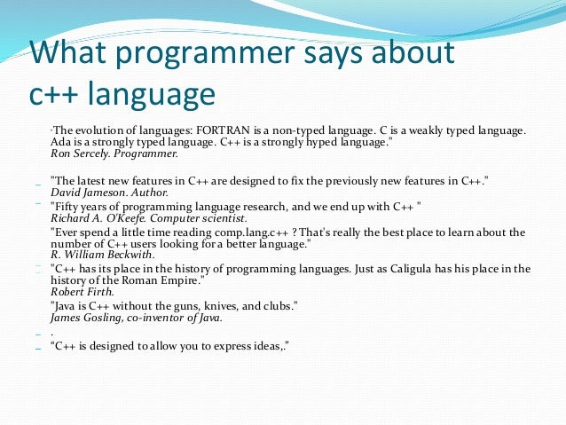 c language notes 1 c notes #1 introduction to the c language for java programmers of all the popular high level programming languages today (c, c++, c#, java, basic), c is considered the.