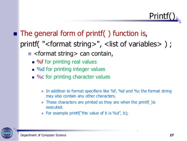 printf format double quotes