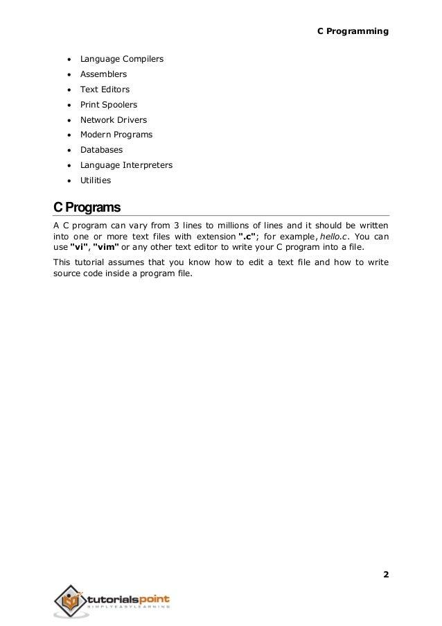 c language programming description in simple words