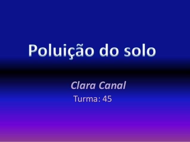 Clara CanalTurma: 45