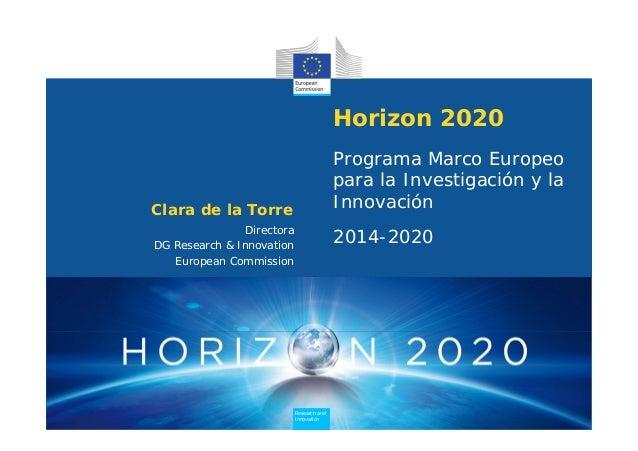Horizon 2020                                           Programa Marco Europeo                                           pa...