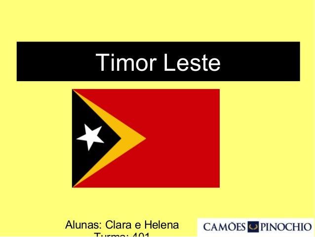 Timor Leste Alunas: Clara e Helena