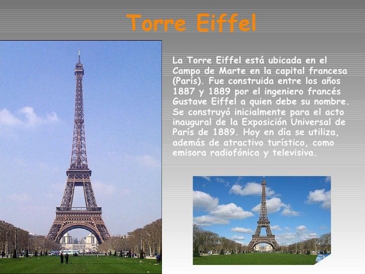 Paris for Quien hizo la torre eiffel
