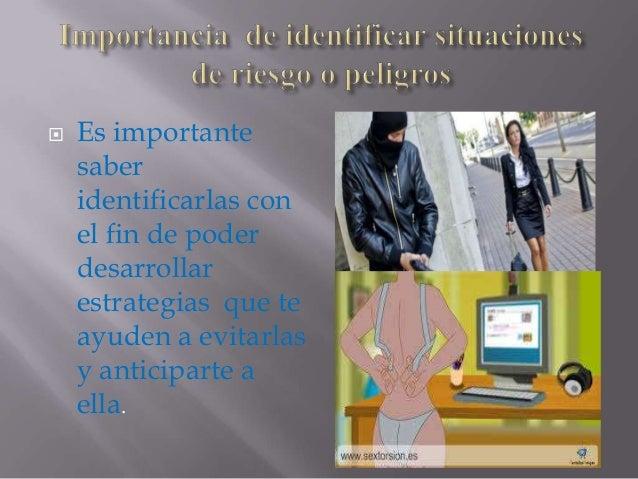 situaciones de riesgo y peligro  Slide 3