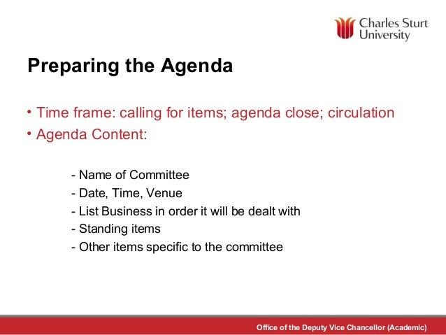 Meeting Preparation and Minute Taking Clare Jonker – Preparing Meeting Agenda