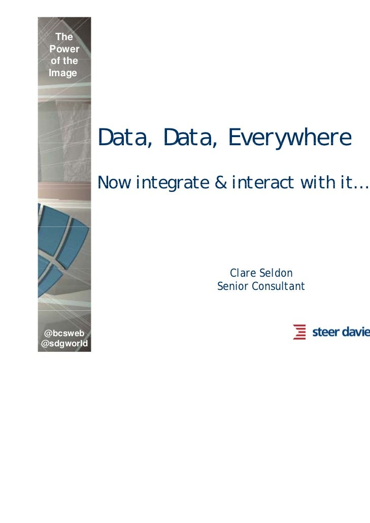 The Power  of the Image            Data, Data, Everywhere            Now integrate & interact with it                     ...