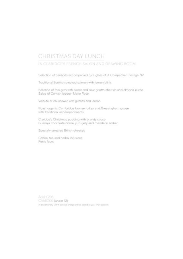CHRISTMAS DAY LUNCH  IN (fll AHIDCI  I RI NCII SAI ON AND DRAI/ l| N(§ RC'>()l/ I  Selection of canapés accompanied by a g...