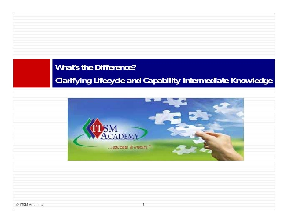 What s                  What's the Difference?                  Clarifying Lifecycle and Capability Intermediate Knowledge...