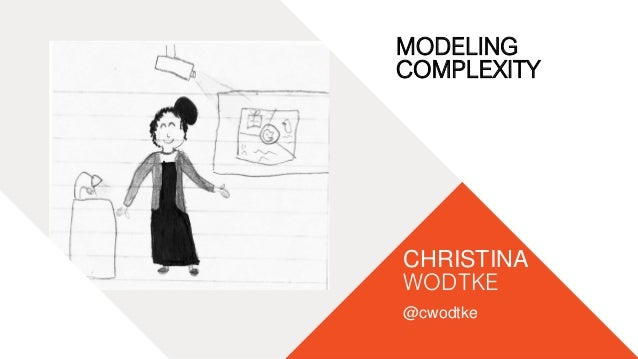 01 WORLD IA DAY 2016 01 WORLD IA DAY 2016 CHRISTINA WODTKE @cwodtke MODELING COMPLEXITY