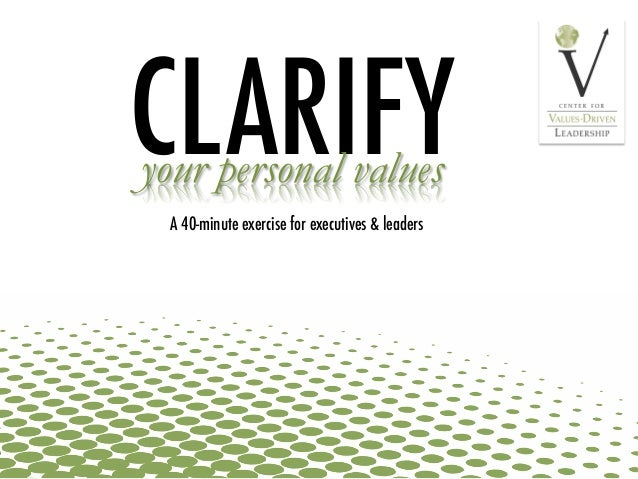 clarifying personal values Section 3: clarifying personal valuesmany sex educators have said that probably the most difficult aspect of their preparation in becoming sex educators was not a lack of accurate knowledge.