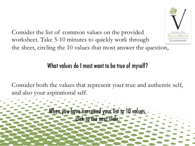Clarify Your Personal Values – Values Clarification Worksheet