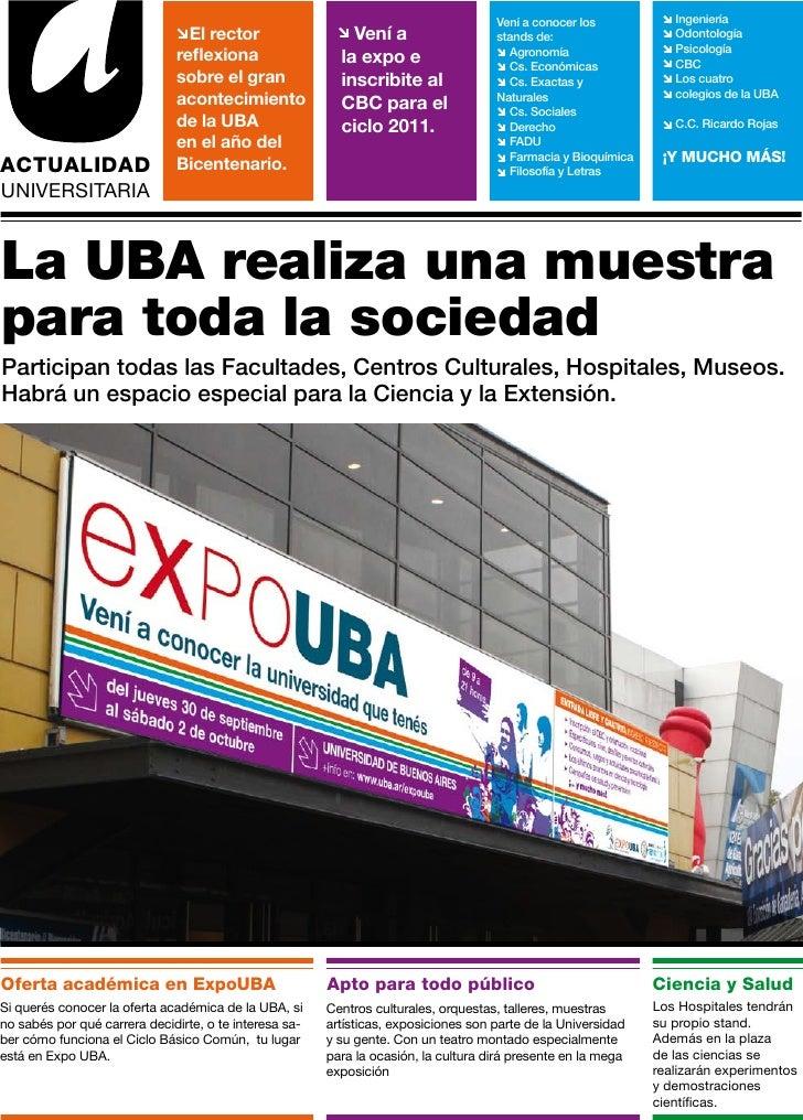 ExpoUBA 2010 - Suplemento Clarín - Agosto 2010