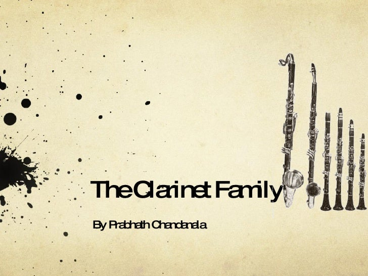 The Clarinet Family By Prabhath Chandanala