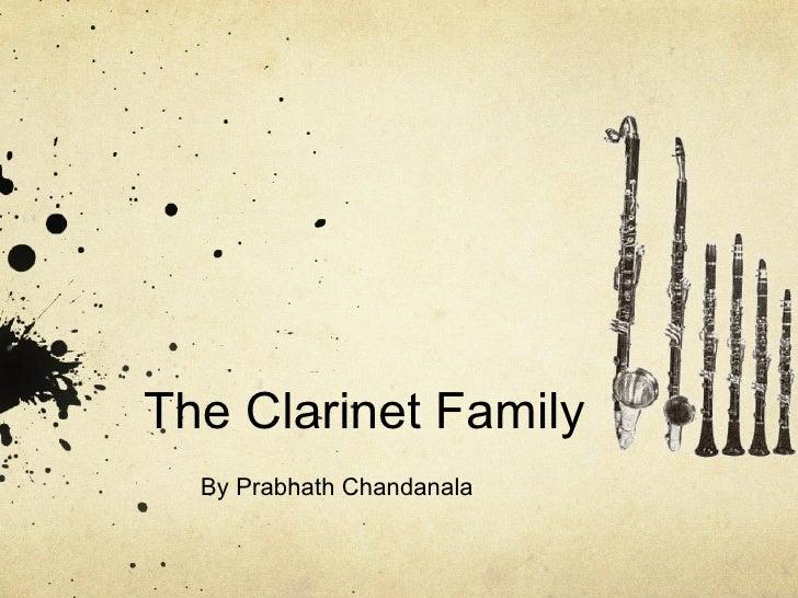 The Clarinet Family By Prabhath Chandanala