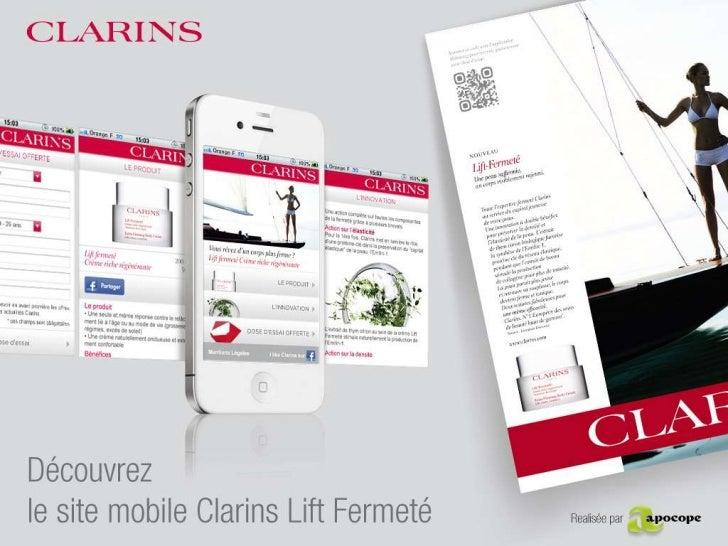 Clarins<br />Référence : 110304_DOC_APOCOPE_Presentation<br />Date : 04/03/2011<br />Version : v1<br />Rédacteur : Benjami...