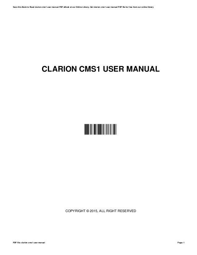 clarion cms1 user manual rh slideshare net clarion vx409 owners manual clarion cmd7 owners manual