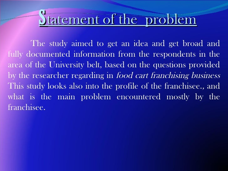 """reason study problems encountered by the Problem encounter by the fast food chain  we are conducting a study, """"problems encountered by fast food  encounter by the fast food chain or restaurants."""