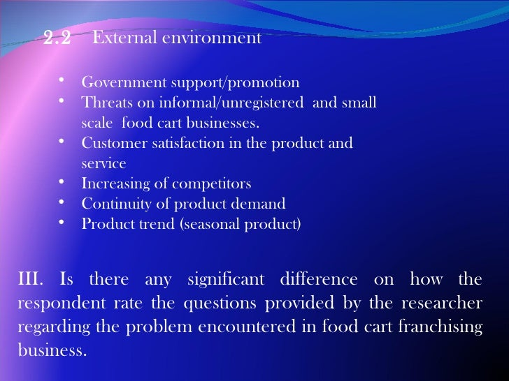 research about food cart business