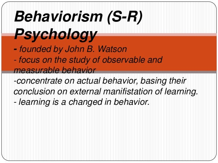 Behaviorism theory
