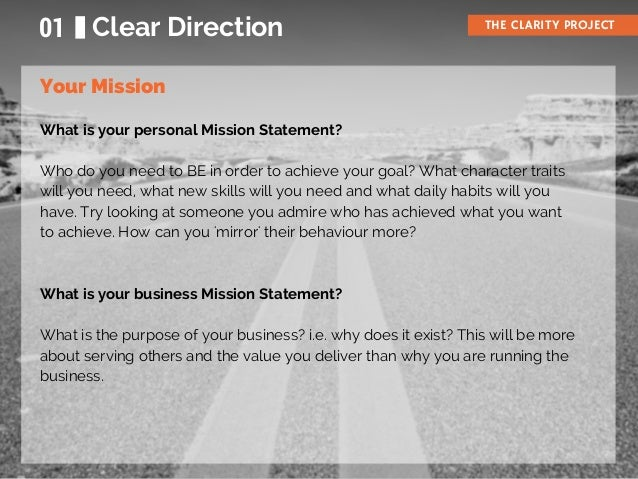 The 7 Steps to Clarity Slide 3