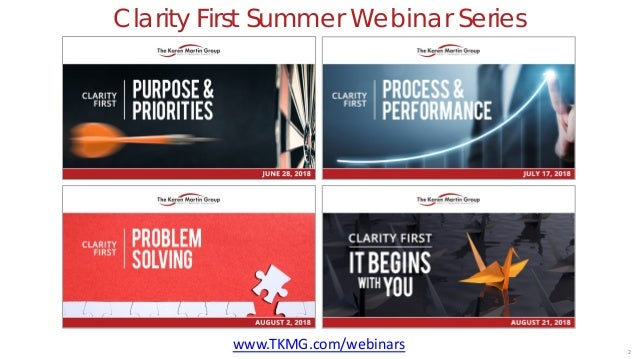 Clarity First: Overview (1 of 5 webinars) Slide 2