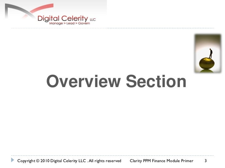 Clarity ppm financials made easy Slide 3