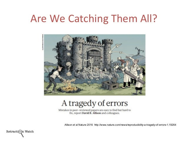Are We Catching Them All? Allison et al Nature 2016 http://www.nature.com/news/reproducibility-a-tragedy-of-errors-1.19264
