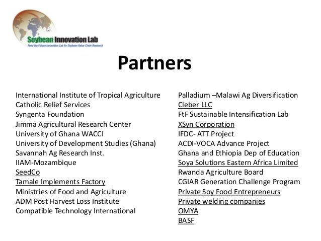 USAID soybean project in Ghana and other African countries