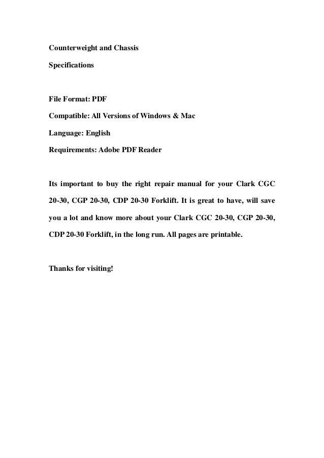 Clark Forklift Cgc25 Manual - Best Fork 2018