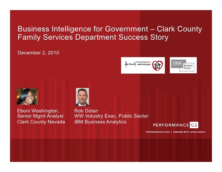 Business Analytics software Business Intelligence for Government – Clark County Family Services Department Success Story D...