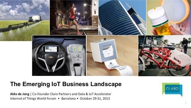 The Emerging IoT Business Landscape    Aldo  de  Jong  |  Co-‐Founder  Claro  Partners  and  Data  &...
