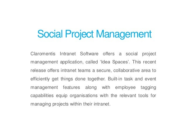 Social Project Management Intranet App By Claromentis