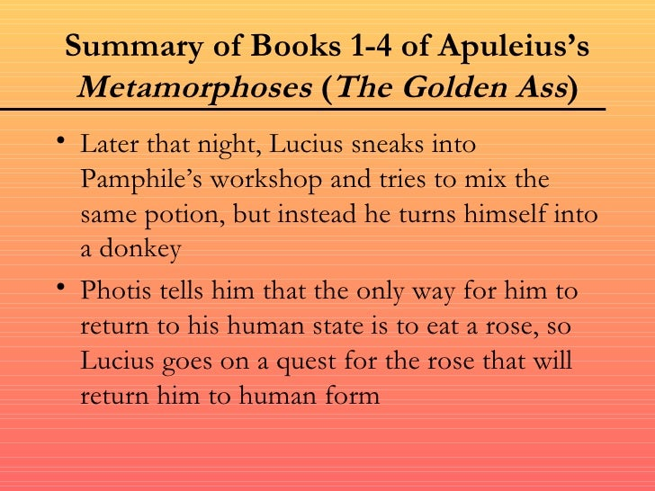 The golden ass by apuleius summary