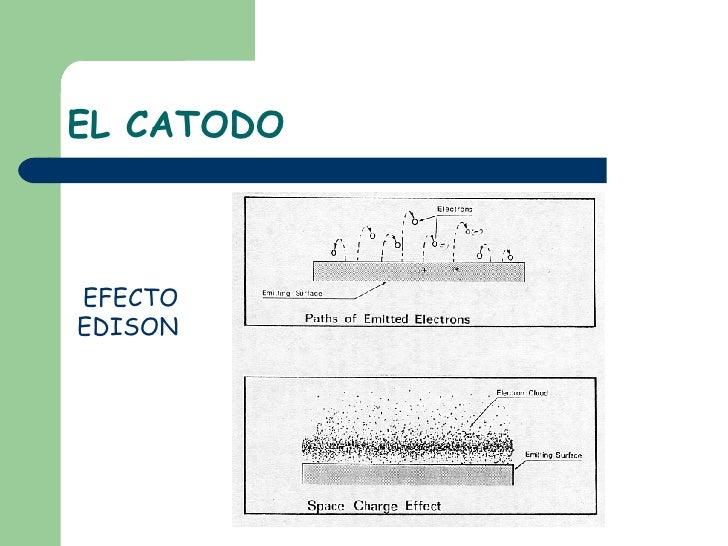 EL CATODO EFECTO EDISON