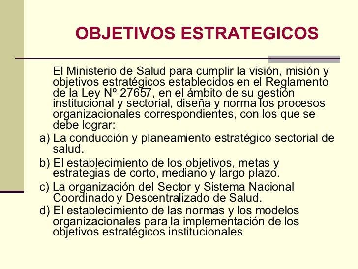Gerencia en salud clase 2 a urp 2008 ii for Ministerio de salud peru