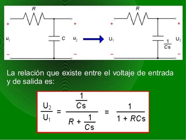 La relación que existe entre el voltaje de entrada y de salida es: