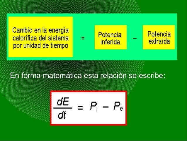En forma matemática esta relación se escribe: