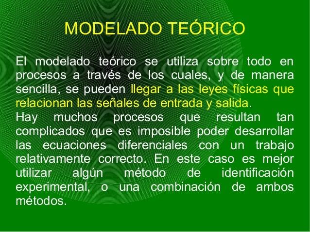 MODELADO TEÓRICO El modelado teórico se utiliza sobre todo en procesos a través de los cuales, y de manera sencilla, se pu...