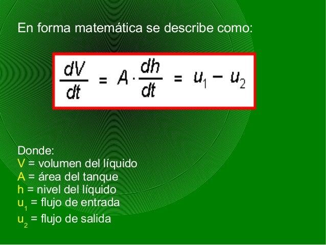 Si se toma como señal de regulación el flujo de entrada u1 y el flujo de salida u2 es variable y se toma como una perturba...