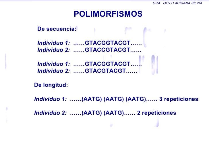 Resultado de imagen de polimorfismos de secuencia