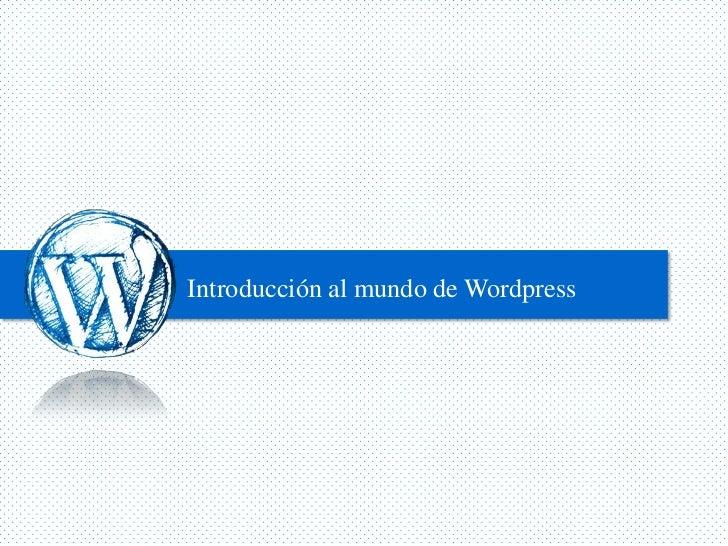 Introducción al mundo de Wordpress