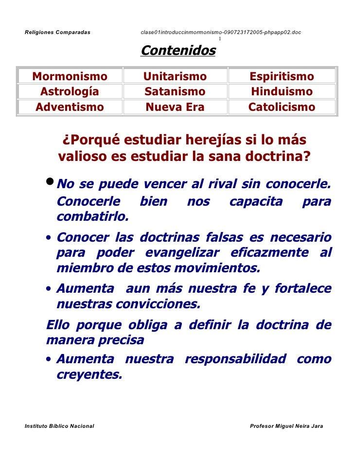 Religiones Comparadas        clase01introduccinmormonismo-090723172005-phpapp02.doc                                       ...