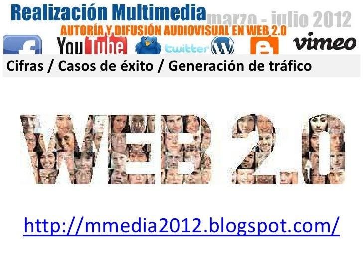 Cifras / Casos de éxito / Generación de tráfico  http://mmedia2012.blogspot.com/