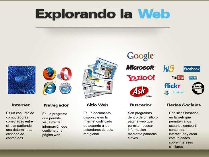 Es un programa que permite visualizar la información que contiene una página web  Es un conjunto de computadoras conectada...