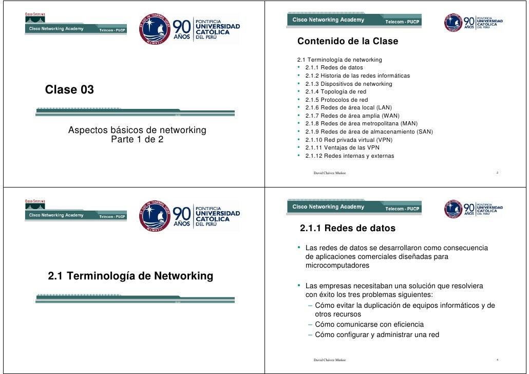 Contenido de la Clase                                     2.1 Terminología de networking                                  ...