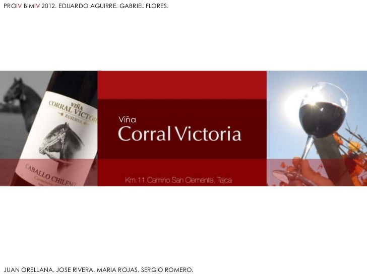 PROIV BIMIV 2012. EDUARDO AGUIRRE. GABRIEL FLORES.                                  ViñaJUAN ORELLANA. JOSE RIVERA. MARIA ...