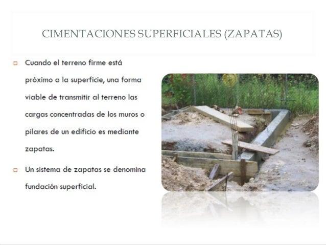 CIMENTACIONES SUPERFICIALES (ZAPATAS)