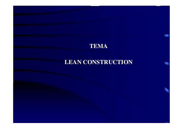 TEMA LEAN CONSTRUCTION